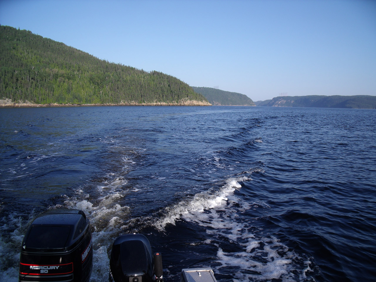 Driving up the Saguenay river